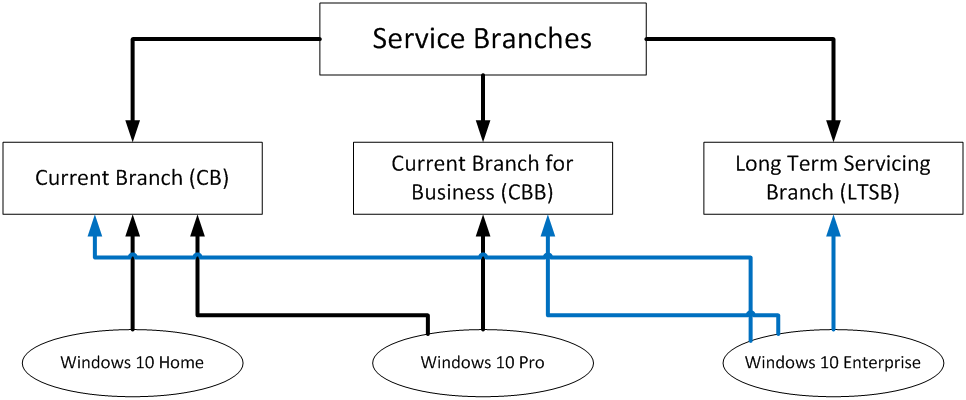 Service branches